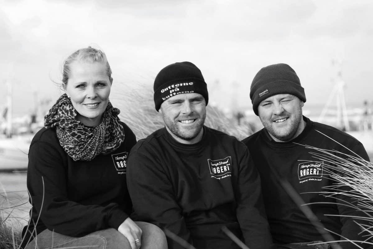 Familien hos Thorupstrand Røgeri