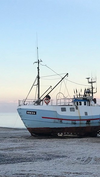 HM94 fiskekutter Thorupstrand røgeri