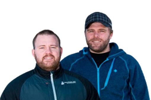 Jesper og Bo fra Gutterne på kutterne
