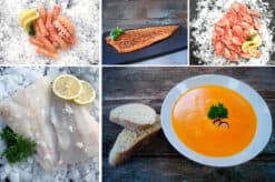 Nytårs fiskepakke til et lækkert måltid med fisk